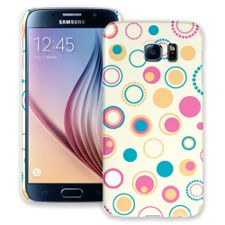 Retro Pink and Blue Samsung Galaxy S6 ColorStrong Slim-Pro Case