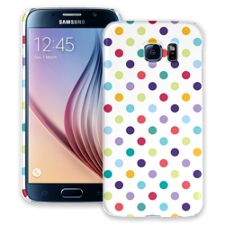Polka Dot Explosion on White Samsung Galaxy S6 ColorStrong Slim-Pro Case