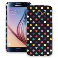 Polka Dot Explosion on Black Samsung Galaxy S6 ColorStrong Slim-Pro Case