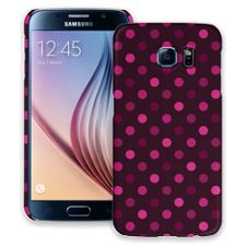 Black Raspberry Polka Dots Samsung Galaxy S6 ColorStrong Slim-Pro Case