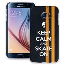 Keep Calm and Skate On Samsung Galaxy S6 ColorStrong Slim-Pro Case