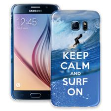 Keep Calm and Surf On Samsung Galaxy S6 ColorStrong Slim-Pro Case