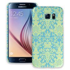 Vintage Blue Green Damask Samsung Galaxy S6 ColorStrong Slim-Pro Case