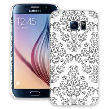 Dainty Black and White Damask Samsung Galaxy S6 ColorStrong Slim-Pro Case