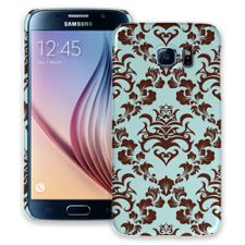 Classic Brown and Blue Damask Samsung Galaxy S6 ColorStrong Slim-Pro Case
