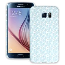 Soft Chateau Blue Damask Samsung Galaxy S6 ColorStrong Slim-Pro Case