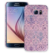 Vintage Purple and Pink Damask Samsung Galaxy S6 ColorStrong Slim-Pro Case