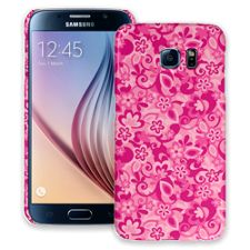 Pink Flower Power Samsung Galaxy S6 ColorStrong Slim-Pro Case