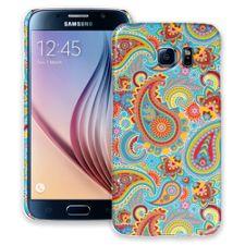 Aqua Blue and Sunshine Paisley Samsung Galaxy S6 ColorStrong Slim-Pro Case