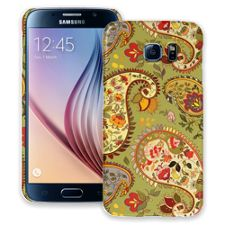 Organic Floral Sage Paisley Samsung Galaxy S6 ColorStrong Slim-Pro Case