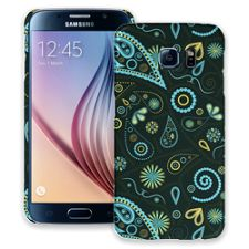 Turquoise Paisley Samsung Galaxy S6 ColorStrong Slim-Pro Case