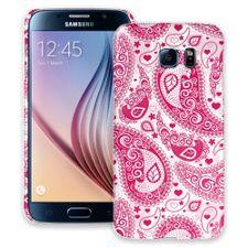 Red Heart Bandana Paisley Samsung Galaxy S6 ColorStrong Slim-Pro Case