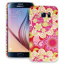Abstract Pink Floral Samsung Galaxy S6 ColorStrong Slim-Pro Case
