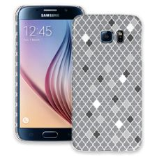 Speckled Grey Quatrefoil Samsung Galaxy S6 ColorStrong Slim-Pro Case