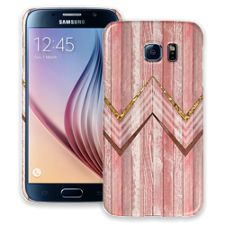 Retro Pink Wood Chevron Samsung Galaxy S6 ColorStrong Slim-Pro Case