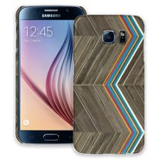 Rainbow Refraction Brown Wood Samsung Galaxy S6 ColorStrong Slim-Pro Case