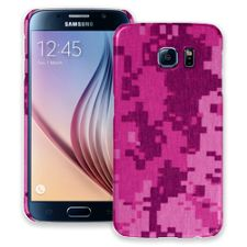Pink Digital Camouflage Samsung Galaxy S6 ColorStrong Slim-Pro Case