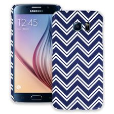 Blue & White Double Chevron Samsung Galaxy S6 ColorStrong Slim-Pro Case