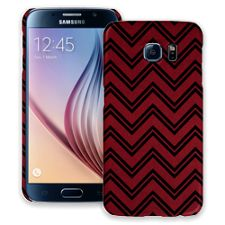 Brick Red & Black Double Chevron Samsung Galaxy S6 ColorStrong Slim-Pro Case
