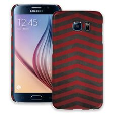 Red & Grey Bold Chevron Samsung Galaxy S6 ColorStrong Slim-Pro Case