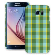 Verdant Plaid Samsung Galaxy S6 ColorStrong Slim-Pro Case