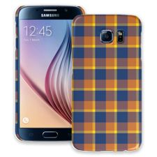 Blue & Yellow Plaid Samsung Galaxy S6 ColorStrong Slim-Pro Case