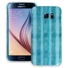 Distressed Blue Stripes Samsung Galaxy S6 ColorStrong Slim-Pro Case