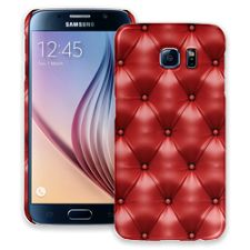 Red Leather Samsung Galaxy S6 ColorStrong Slim-Pro Case