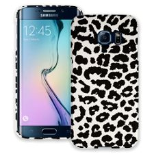 Black and White Leopard Samsung Galaxy S6 Edge ColorStrong Slim-Pro