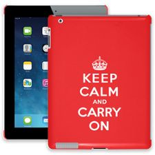 Keep Calm and Carry On iPad 2/3/4 ColorStrong Slim-Pro Case