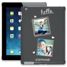 Chalk Portraits Duo iPad 2/3/4 ColorStrong Slim-Pro Case