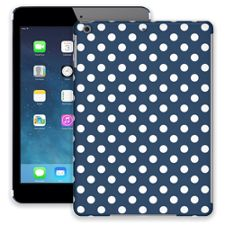 White Polka Dot on Navy iPad Air ColorStrong Slim-Pro Case