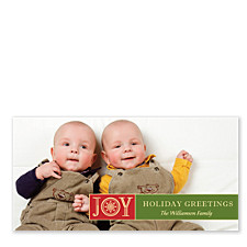 Snowflake Joy Holiday Photo Cards