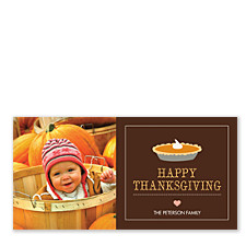 Pumpkin Pie Thanksgiving Photo Cards