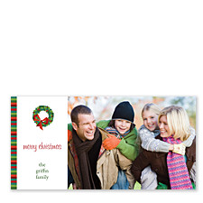 Christmas Wreath Horizontal Photo Cards
