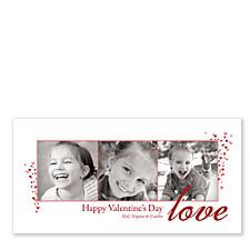 Dreamy Valentine White Photo Cards