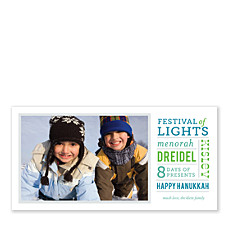 Festival of Lights Hanukkah Photo Cards