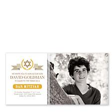 Daniel Photo Bar Mitzvah Invitations