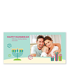 Bright Lights Photo Hanukkah Cards