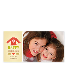 Holiday Sweater Christmas Photo Cards