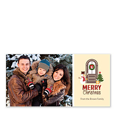 Holiday Door Christmas Photo Cards