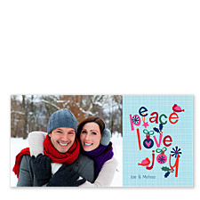 Love Birds of Peace Holiday Photo Cards
