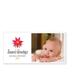 Season's Greetings Poinsettia Photo Christmas Cards