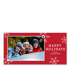 Flowering Snowflakes Photo Christmas Cards