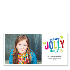 Many Jolly Days Photo Christmas Cards