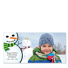 Snowy Friend Holiday Photo Cards