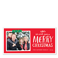 Green Tape Christmas Photo Cards