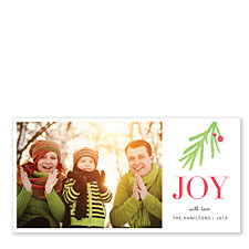 Pine Joy Holiday Photo Cards