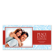 Peace Love Happiness Christmas Photo Cards