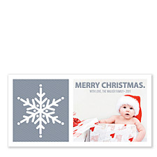 Snowflake Dazzle Christmas Photo Cards